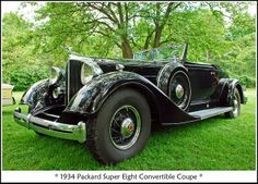 1934 Packard Convertible Coupe - (Packard Automobile Co. Pontiac, Michigan 1899-1954)