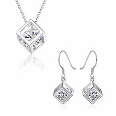 Cool Diamond Earrings Aliexpress.com : Buy 925 Sterling Silver jewelry set Necklaces + earrings Austri... Check more at http://24shopping.tk/fashion-clothes/diamond-earrings-aliexpress-com-buy-925-sterling-silver-jewelry-set-necklaces-earrings-austri/