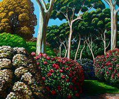Present Day, Kiwi, Watercolors, Amazing Art, Landscape Paintings, Bridge, Interiors, Artwork, Plants