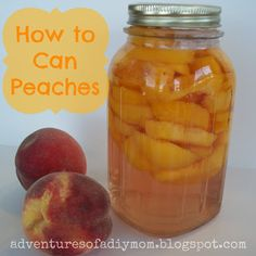 how to make canned peaches