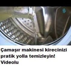 Çamaşır makinesi kireci temizleme videolu Turkish Kitchen, Natural Cleaning Products, Clean House, Helpful Hints, Home Accessories, Diys, Crafts, Website, Household