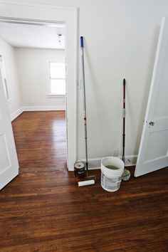 How we refinished our old hardwood floors | via A Beautiful Mess @mamonakumich