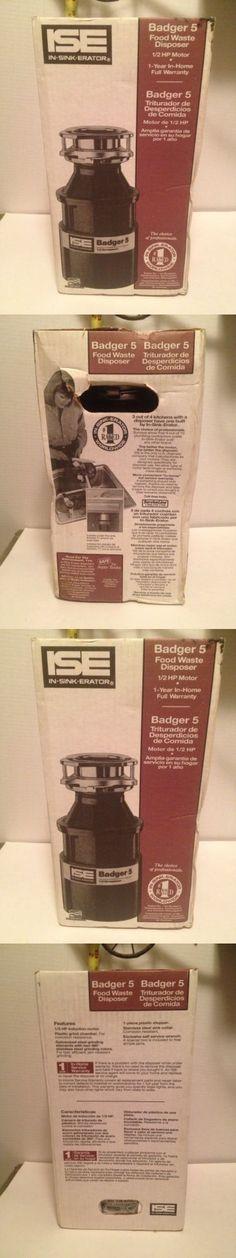 garbage disposals nib garbage disposal ise badger 5 1 2hp free ship - Badger 5