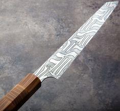 Honey Locust Sujihiki 205mm chef knife handmade by Isaiah Schroeder.