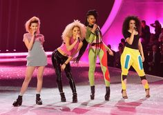catfootwearuk:  :: SPOTTED :: Neon Jungle's Jess looking amazing in black Colorado boots at the Victoria's Secret's show!