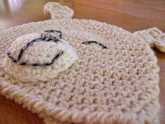 Happy Puppy Dog Crocheted Hat Pattern by Darleen Hopkins #crochet #crochetpattern
