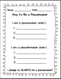 Worksheet Conflict Resolution Worksheets 1000 images about peace on pinterest no david activities and teachery tidbits friday freebie