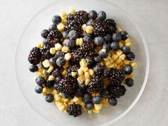 This salad proves that you don't have to keep fruit and vegetables separate. The sweet blueberries and blackberries pair nicely with the starchy corn. A dash of nutmeg ties everything together.