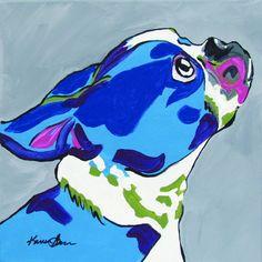 Boston Terrier pop art.  12x12 giclee or framed print $35.