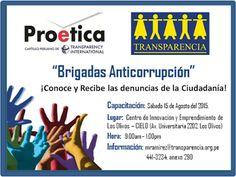 Teresa Clotilde Ojeda Sánchez: Convocatoria:   Brigadas anticorrupción