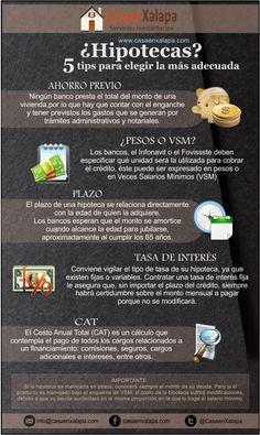 ¿Hipotecas? 5 Tips para elegir la más Adecuada. Inmobiliaria @CasaenXalapa #BienesRaíces