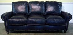 Dark Blue Leather Sofa I Love This Navy