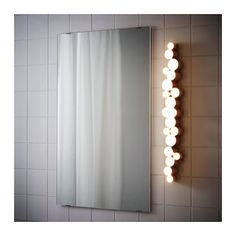 SÖDERSVIK LED wall lamp IKEA Provides an even light that is good for illuminating around a mirror and sink.
