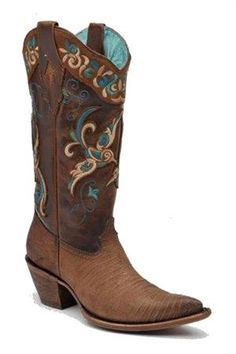Lizard Embroidered PointedToe Womens Cowboy Boots
