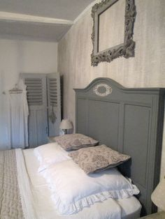 chambre coucher ciel de lit le grenier d 39 alice shabby chic romantique deco charme camere. Black Bedroom Furniture Sets. Home Design Ideas