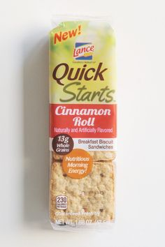 Lance Quick Starts Cinnamon Roll's ($3) Aggressively flavored with cinnamon, they're like Cinnamon Toast Crunch in cookie form #food #snackfood