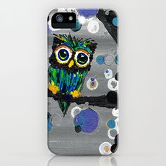 ::Gemmy Owl Weather's the Storm:: iPhone Case by GaleStorm Artworks - $35.00