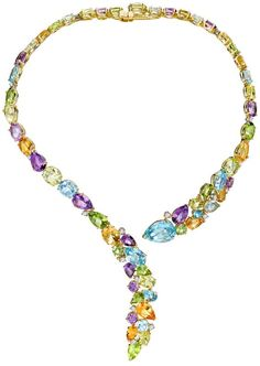 Asprey - Kiki McDonough Multi-gem snake necklace. (=):