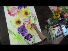 "Flower Arragement 22""x30"" watercolor by Sumiyo Toribe"