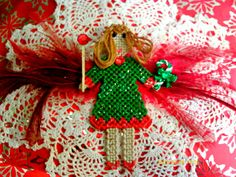 Belle The Christmas Fairy Faerie in UK by angelsandcrafts on Etsy, $10.00