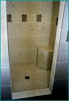 Shower Floor Tile, Shower Wall Tile and Master Bath Tile Designs by Creative Tile and Marble#