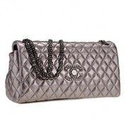Chanel Silver Flap Clutch  $219
