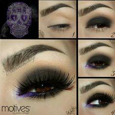 Olho preto e roxo