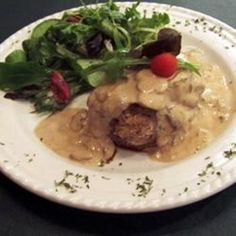 Crab-Stuffed Filet Mignon with Whisky Peppercorn Sauce