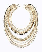 """Modern Classic Pearl & Chain Necklace - From our Modern Classic collection. This piece takes timeless to the next level. The epitome of all-out glamour, this necklace flaunts a dazzling array of pearlized beads, faceted stones and luxe chains. Toggle clasp. 30"""" including 7"""" drop."""