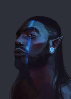 Men of Color In Fantasy Art — Digital by Tinki Vinki Fantasy Portraits, Character Portraits, Character Art, Fantasy Male, Fantasy Rpg, Dnd Characters, Fantasy Characters, Black Characters, Fantasy Inspiration