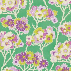 Heather Bailey - Lottie Da - Sprig in Turquoise From Hawthorne Threads