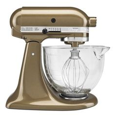 KitchenAid® Tilt-Head Stand Mixer with Glass Bowl, 5 qt. In Toffee Sur La Table