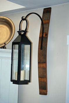 Wall Mounted Wine Barrel Stave with Forged Metal by ThomasAClark, $50.00