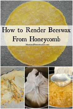 How to render beeswax from honeycomb with picture of honeycomb being placed inside cheesecloth then placed in a pot of hot water to render into beeswax Beeswax Recipes, Beekeeping For Beginners, Backyard Beekeeping, Hobby Farms, Save The Bees, Bee Happy, Bees Knees, Bee Keeping, Honeycomb
