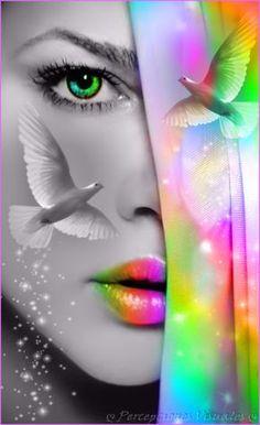 10425528_627694547361996_5325746396811638133_n Beautiful Fantasy Art, Beautiful Gif, Splash Photography, Art Photography, Color Splash Photo, Splash Images, Forest Illustration, Digital Art Girl, Eye Art