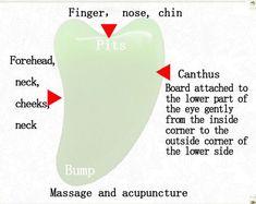 Buy Natural jades Gua Sha Guasha Beauty Massage Tool Health Physiotherapy at Wish - Shopping Made Fun Massage Shiatsu, Massage Facial, Massage Tools, Massage Therapy, Face Massage Tool, Gua Sha Massage, Gua Sha Facial, Gua Sha Tools, Face Yoga