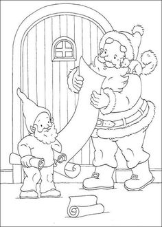 Santa Is Reading Letters From Kids Coloring page