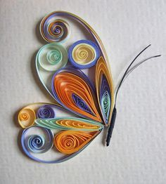 Josie Jenkins Quilling this is awesome ! by Hercio DiasI've done a very very simplified version of this quilled butterfly / Quilling Artquilling ♥♥Pretty Butterfly - So Sweet♥♥ na quilling 3 mm, 100 ksQuilling with older children Neli Quilling, Quilling Images, Quilling Butterfly, Quilling Videos, Paper Quilling For Beginners, Paper Quilling Cards, Quilling Work, Quilled Paper Art, Paper Quilling Designs