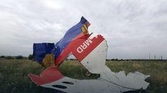 Fragment wraku malezyjskiego boeinga 777, który został zestrzelony nad Ukrainą
