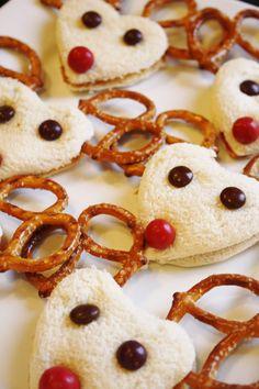Recetas de Navidad, sandwiches divertidos de Navidad
