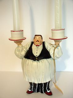 Italian Kitchen Chef Candle holder