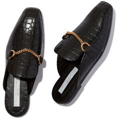 Scarpa Loafer ❤ liked on Polyvore featuring shoes, loafers, loafers moccasins, crocodile loafers, chain shoes, loafer shoes and backless loafers