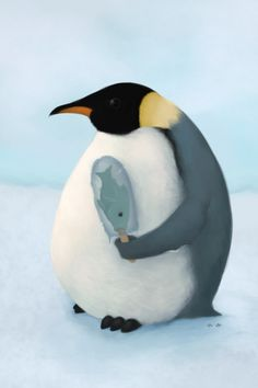 Shared by icheban. iPhone Paintings By icheban Penguin Day, Penguin Love, Penguin Craft, Great Pictures, Cool Photos, Animals And Pets, Cute Animals, Penguin Tattoo, Still Life Photos