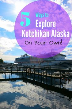 Wondering what to do at each port of your Alaskan Cruise? This is 5 ways to explore Ketchikan on your own. NO TOUR NEEDED! Best Cruise, Cruise Port, Cruise Travel, Cruise Vacation, Disney Cruise, Dream Vacations, Cruise Packing, Alaska Cruise Tips, Alaska Travel