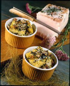 Polenta spinaci e funghi