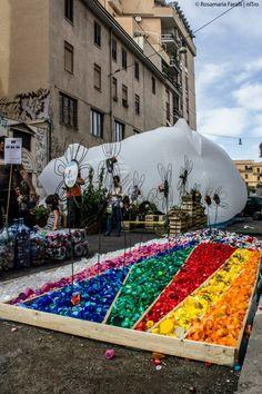 """Fiori Urbani + Diaria, installazioni Open House Roma, Galleria """"Come se"""" San Lorenzo."""