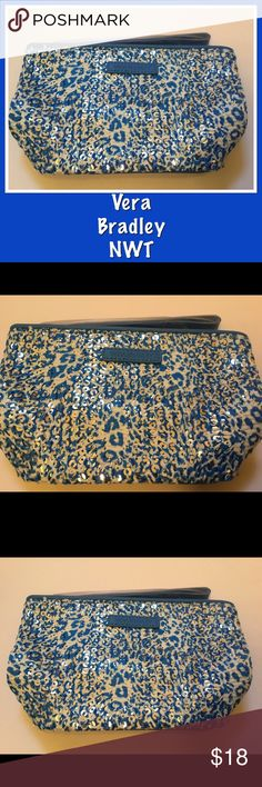 Vera Bradley Mesh Sequin Wristlet Camocat Blue NWT This is a brand new with tags Vera Bradley Mesh Sequin Wristlet.  The pattern is Camocat Blue.  Approximate dimensions - 5.75-in. W x 4.5-in. H x 2-in. D. Vera Bradley Bags Clutches & Wristlets