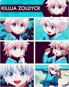 Little Killua <3 Awww he loooks like a puppy (Why would anyone make him more smol than he already is? *-*)