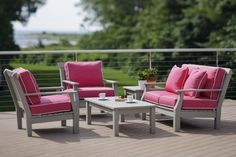 """Seaside Casual Nantucket 5-Piece Deep Seating Set! Seaside Casual sets the standard in outdoor furniture for comfort, durability and is built to last! Seaside manufactures the most comfortable wood looking furniture you will ever sit in! Seaside Casual's envirowood/polywood Furniture is the most durable outdoor furniture available """"period""""! Seaside Casual outdoor furniture presents the beauty of wood without the associated maintenance."""