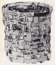 Newspaper wastebasket